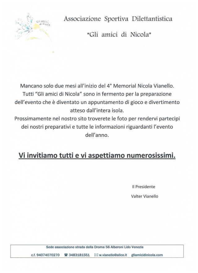 Invito al Memorial